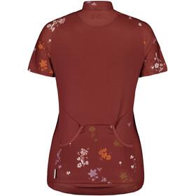 Maloja ViagravaM. Short Sleeve Bike Jersey Women maroon